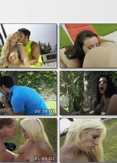 Lüks Villa Bahçesinde Grup Seks Yapıyorlar